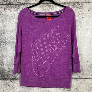 Nike // Scoop Neck Pullover Sweatshirt